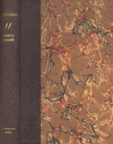Dean Koontz, Lightning, a limited edition in half leather with marble paper over boards.