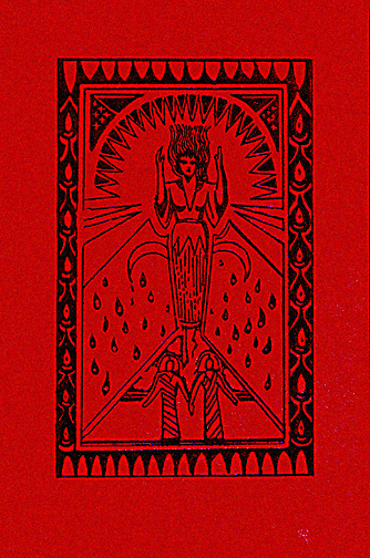 Anne Rice, The Queen of the Damned, limited edition in a full leather binding with a large stamped design on the front cover.