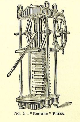 mechanical standing iron book press