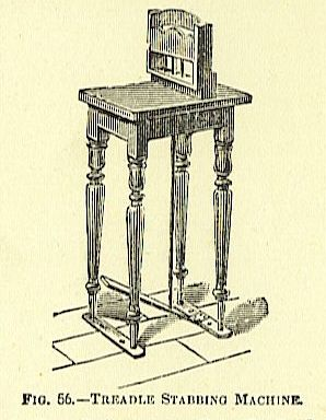 treadle stabbing machine