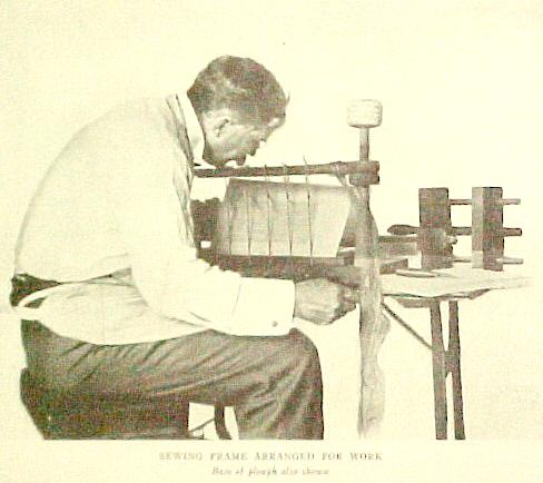 Mr.Lee sewing position showing plough