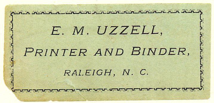 uzzell bookbinder