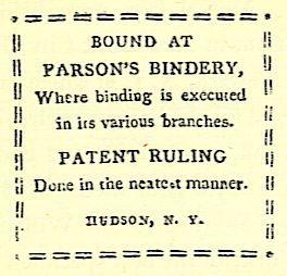 BOUND AT PARSON'S BINDERY